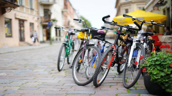 Parkerede cykler